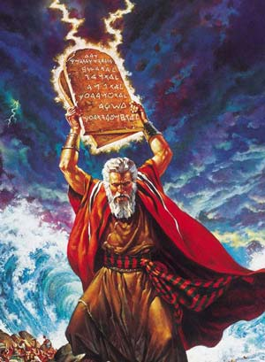 moses angry ten commandments