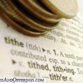 Dictionary definition of tithing