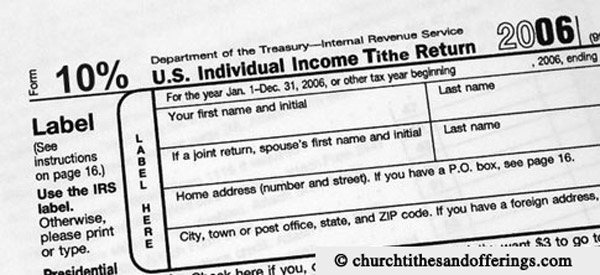 Tax return for tithing