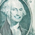 George Washington Smiling on a Dollar Bill