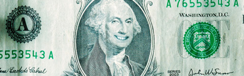 George Washington Smiling on a Dollar