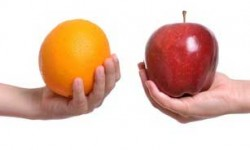 comparison of apple and orange