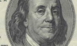 benjamin franklin on 100 bill