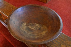 wooden offering plate