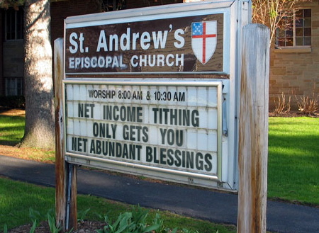 net gross tithing