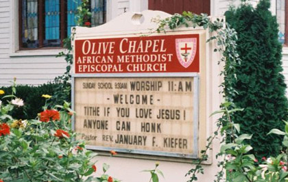 tithe if you love jesus anyone can honk