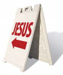 church jesus sign