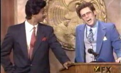 jim carrey and dwayne wayans preaching in a church