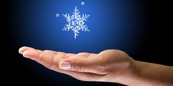 hand snow flake