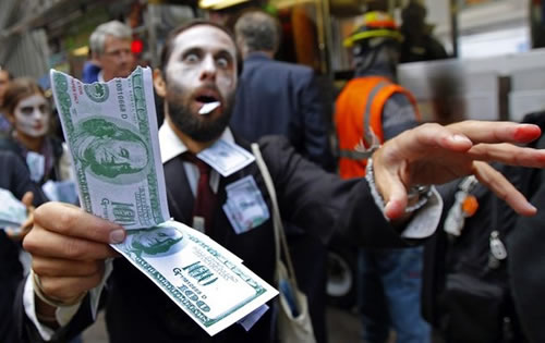 zombie with money