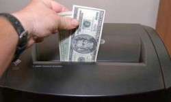 money in shredder